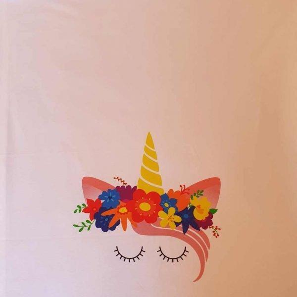 Flower Unicorn Organic Child Panel   – Organic Jersey