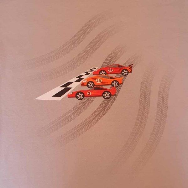 Racing Cars Organic Child Panel – Organic Jersey