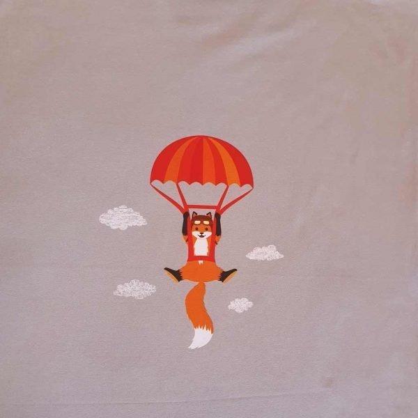 Parachuting Fox – Organic Child Panel