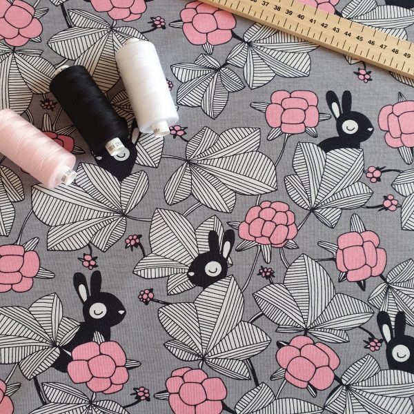 Hilda Grey/Light Pink  – Organic Jersey