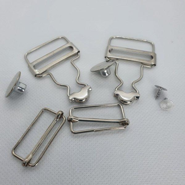 Dungaree Bib & Brace Set Silver