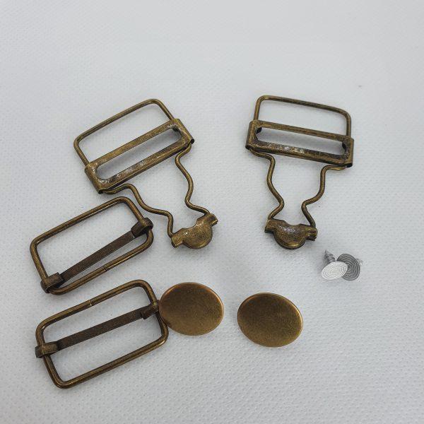 Dungaree Bib & Brace Set Brass
