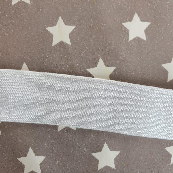 1 inch/ 25mm White Waistband Elastic