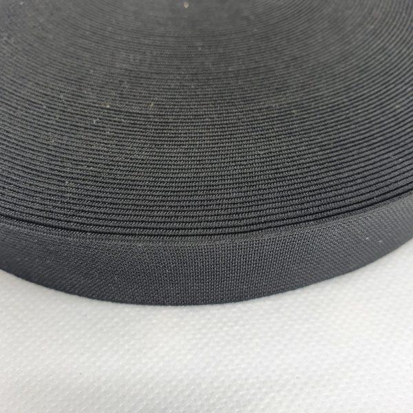 1 inch/ 25mm Black Waistband Elastic