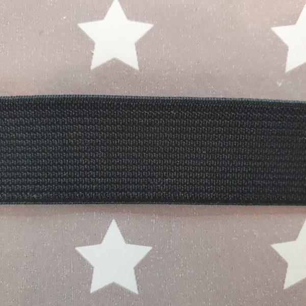 3/4 Inch/ 19mm Black Waistband Elastic