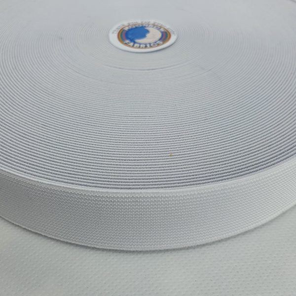 1 inch/ 25mm White Waistband Elastic