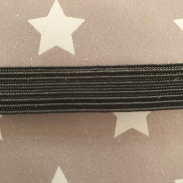 1/2 inch/ 12mm Black Elastic
