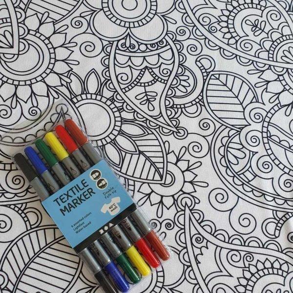 Colour Me Flowers – Organic Jersey Bundle
