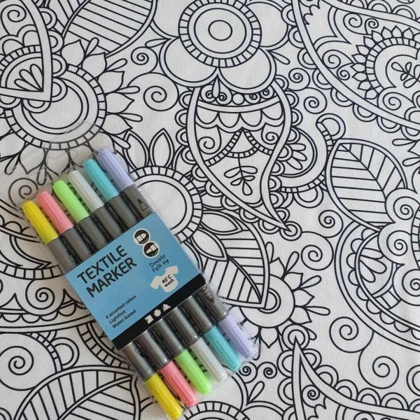 Colour Me Flowers – Organic Jersey Bundle – Pastel