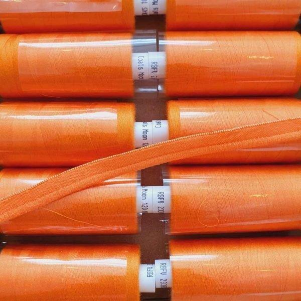 Amber Orange – Stretch Piping Trim
