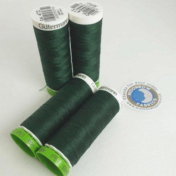 Gutermann rPET Thread Antique Green 472