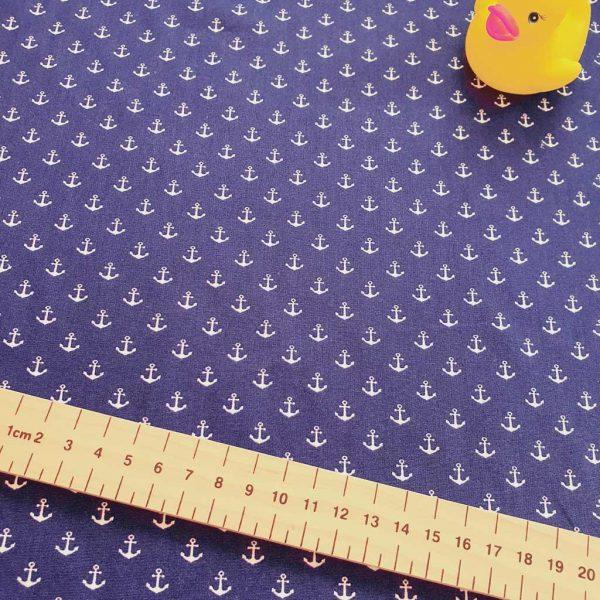 Blue Anchors – Cotton Poplin