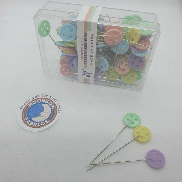 Buttons Flat Head Dressmaking Pins