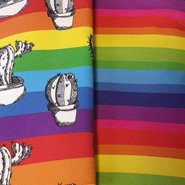 Rainbow cactus fabric bundle