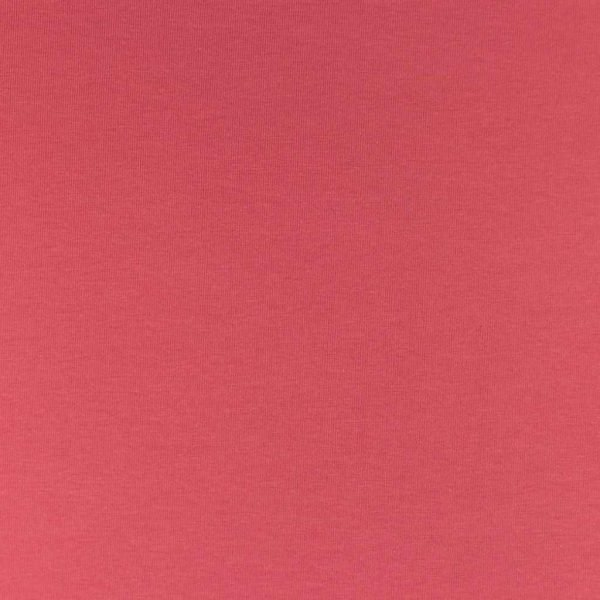 Coral coloured jersey fabric