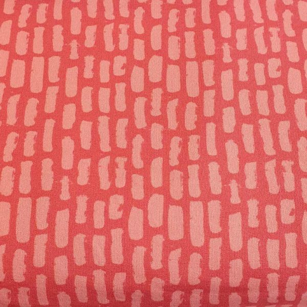 Dashes Rose Pink – French Terry – Loop Back