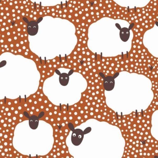 Flock of Sheep – Burnt Orange – Jersey