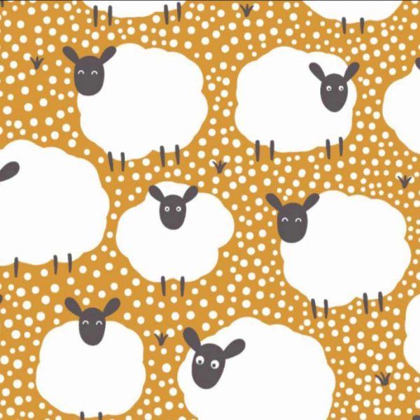 Flock of Sheep – Mustard – Jersey
