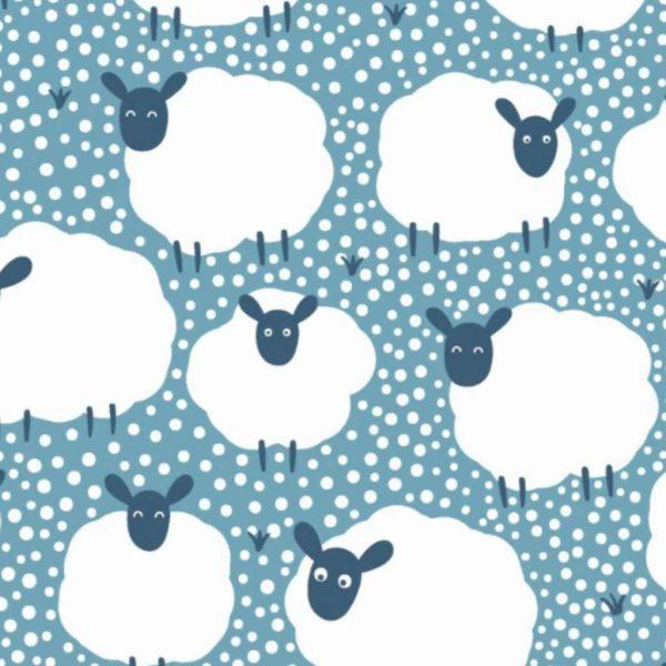 Flock of Sheep – Blue – Jersey