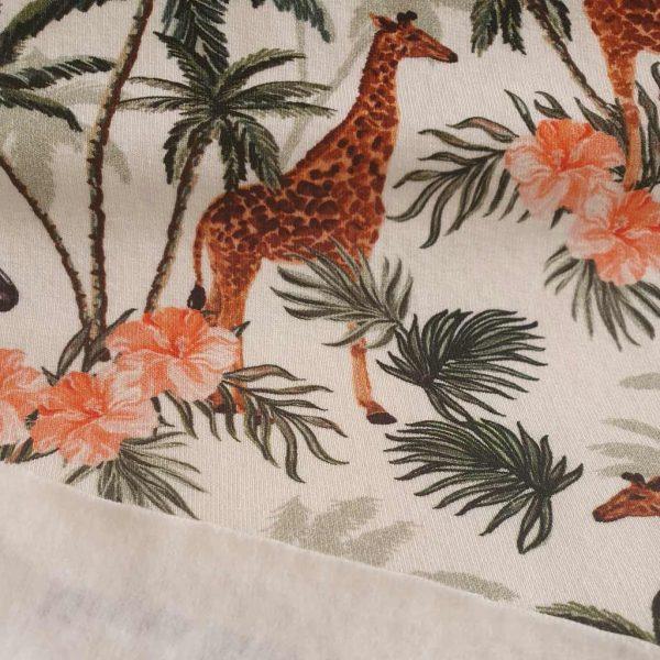 Flower Safari – French Terry – Fleece Back