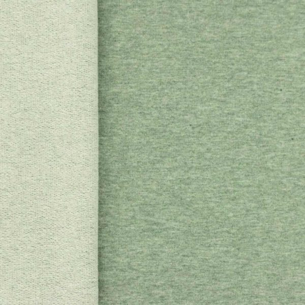 Forest Green Marl – French Terry – Loop Back