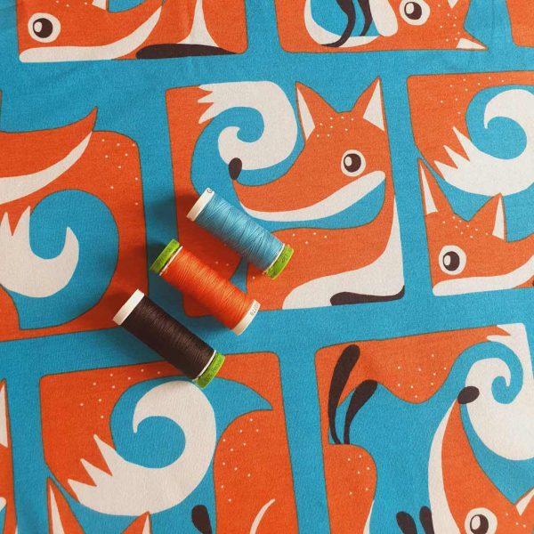 Fox Box – Turquoise – Organic Jersey