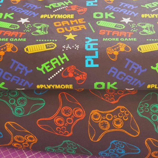 Rainbow computer game jersey fabric