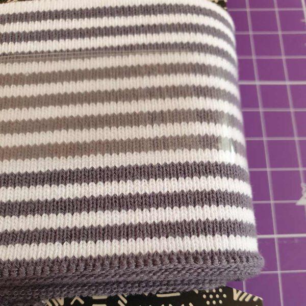 Grey and White Stripes – Jersey Cuff Ribbing