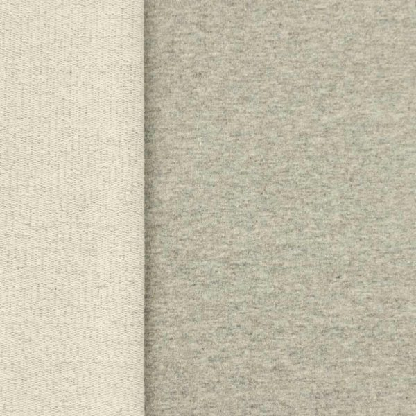 Grey marl French Terry fabric