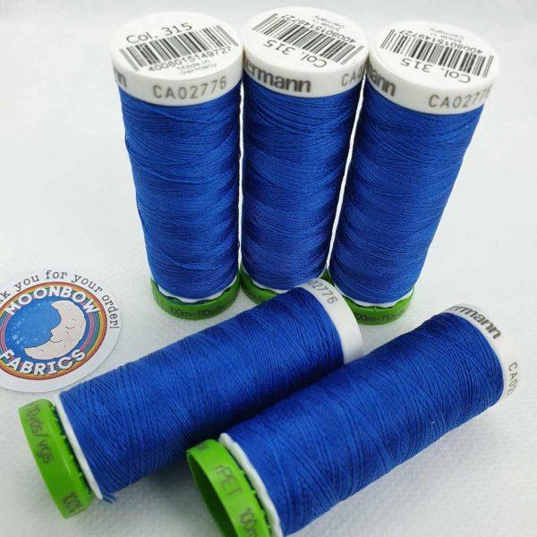 Gutermann rPET Thread Azure Blue 315