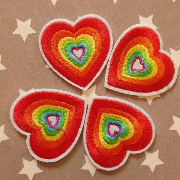 Rainbow heart applique