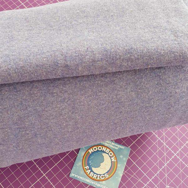Heather Purple Marl – Jersey Tubular Ribbing