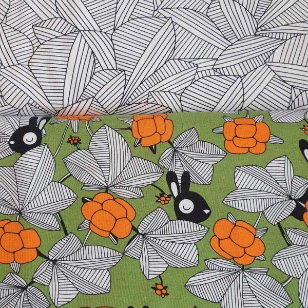 Hilda Green/Orange – GOTs Organic Jersey