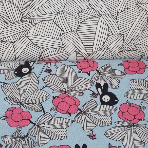 Hilda Light Blue/Pink – GOTs Organic Jersey