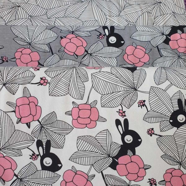 Hilda White/Pink – GOTs Organic Jersey