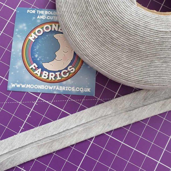 Pale Grey Marl – Jersey Bias Binding