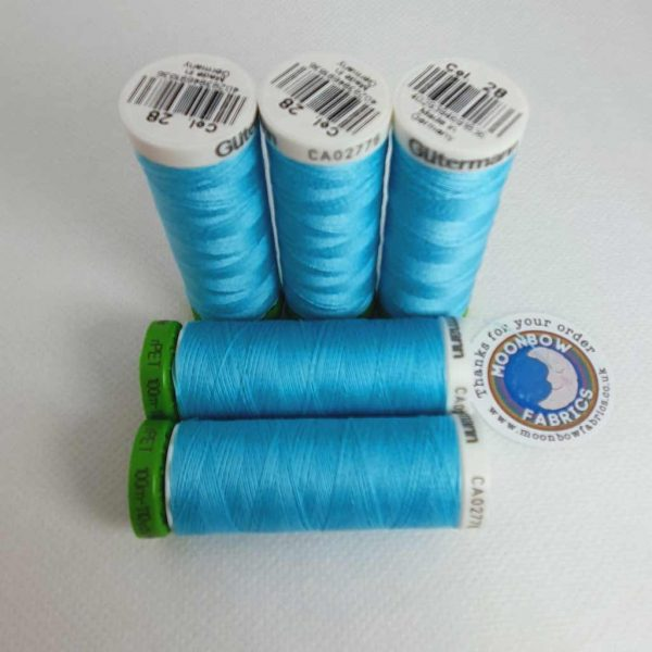 Gutermann rPET Thread Maldives Blue 28