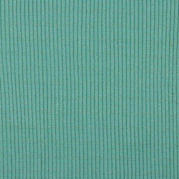 Mint Glitter – Jersey Tubular Ribbing