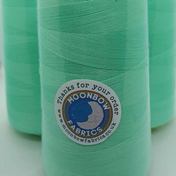 Mint green overlocker sewing machine thread