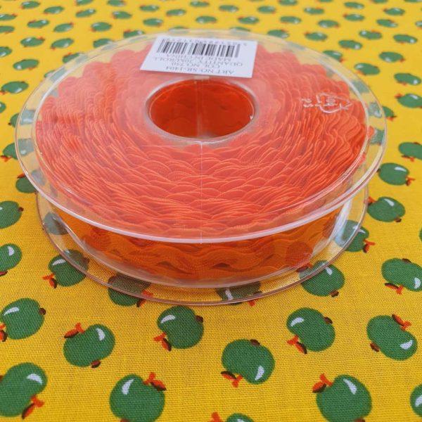 Orange Ric Rac Trim