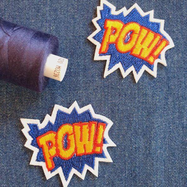 Pow! Blue Applique