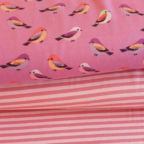 Pretty Birds – Purple – Jersey