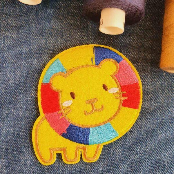 Rainbow Lion Applique