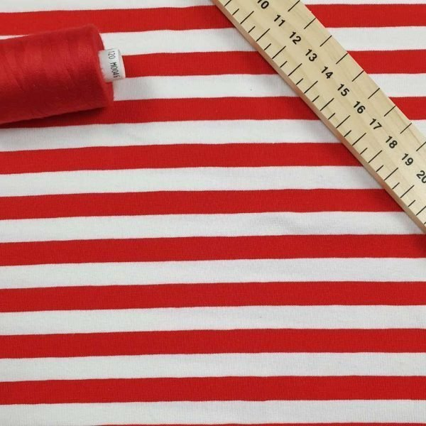 Red & White Stripe  – Jersey
