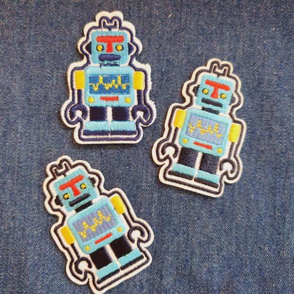 Robot Blue Applique