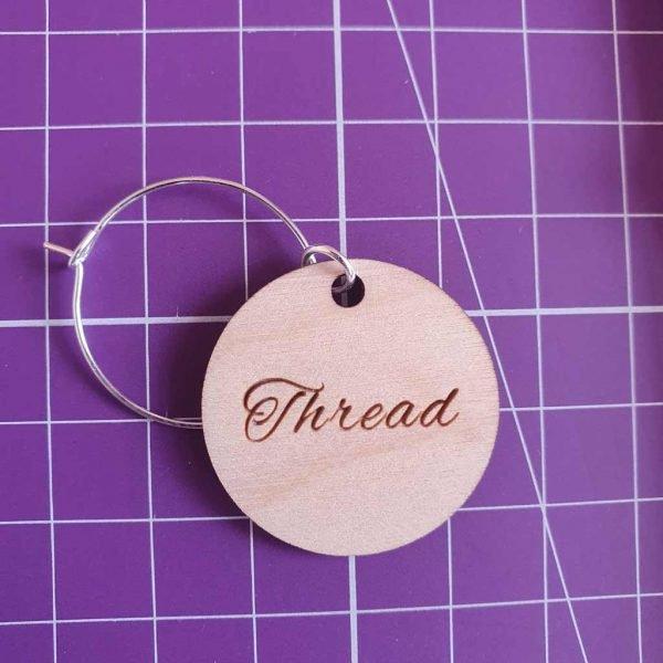 Wooden scissors tags