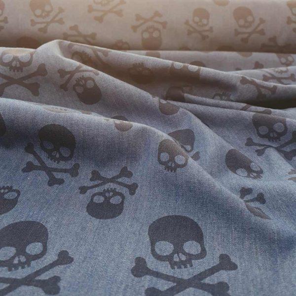 Skulls Chambray – Cotton