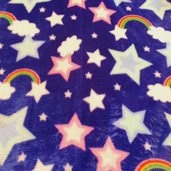 Blue stars cuddle fleece