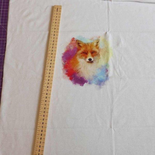 Watercolour Fox Organic Child Panel – Organic Jersey