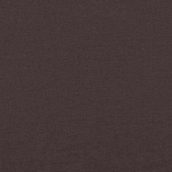 Chocolate brown coloured jersey fabric